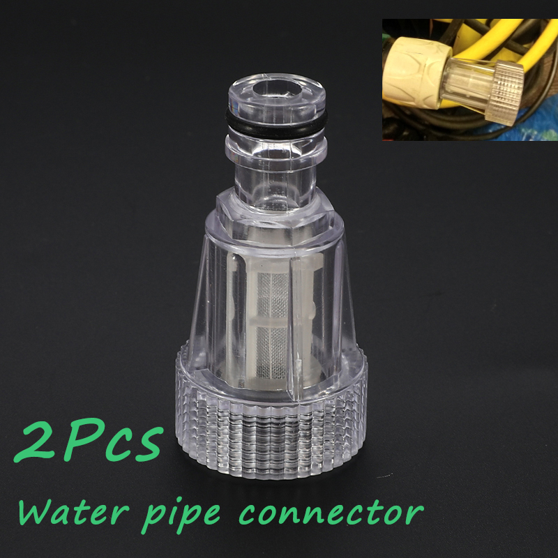 2 Pcs Universal Water Pipe Connection Parts Car High-pressure Washer Clean Machine Water Filter Adapter For Karcher K2-K7 Series