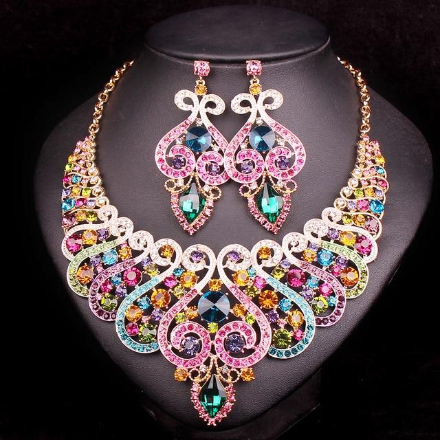 Fashion Indian Bridal Jewelry Sets Wedding Necklace ...