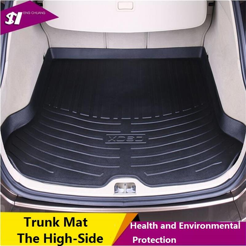 New high-side waterproof trunk mat surrounded by the whole car trunk mat suitable for the volvo xc60 s60 v40 green car mats special rubber latex green car trunk mats case for benz smart desinged for original car model
