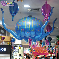 Hanging decoration Inflatable jellyfish model balloon for inflatable toys the free shipping fee