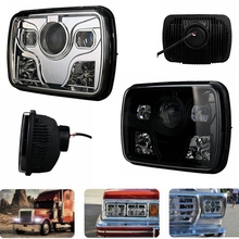 DOT Approved 7″x6″ 48W 4000LM LED Headlight Hi/Lo Beam Fits H6014, H6052, H6054, 6054 Sealed Beam Headlight