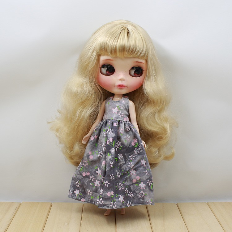 Neo Blythe Doll Retro Spring Flowers Dress 4