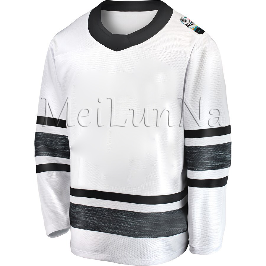Auston Matthews Karlsson Pastrnak Kane OReilly Laine Price Burns Crosby McDavid Fleury Tavares White 2019 Hockey All Star Jersey