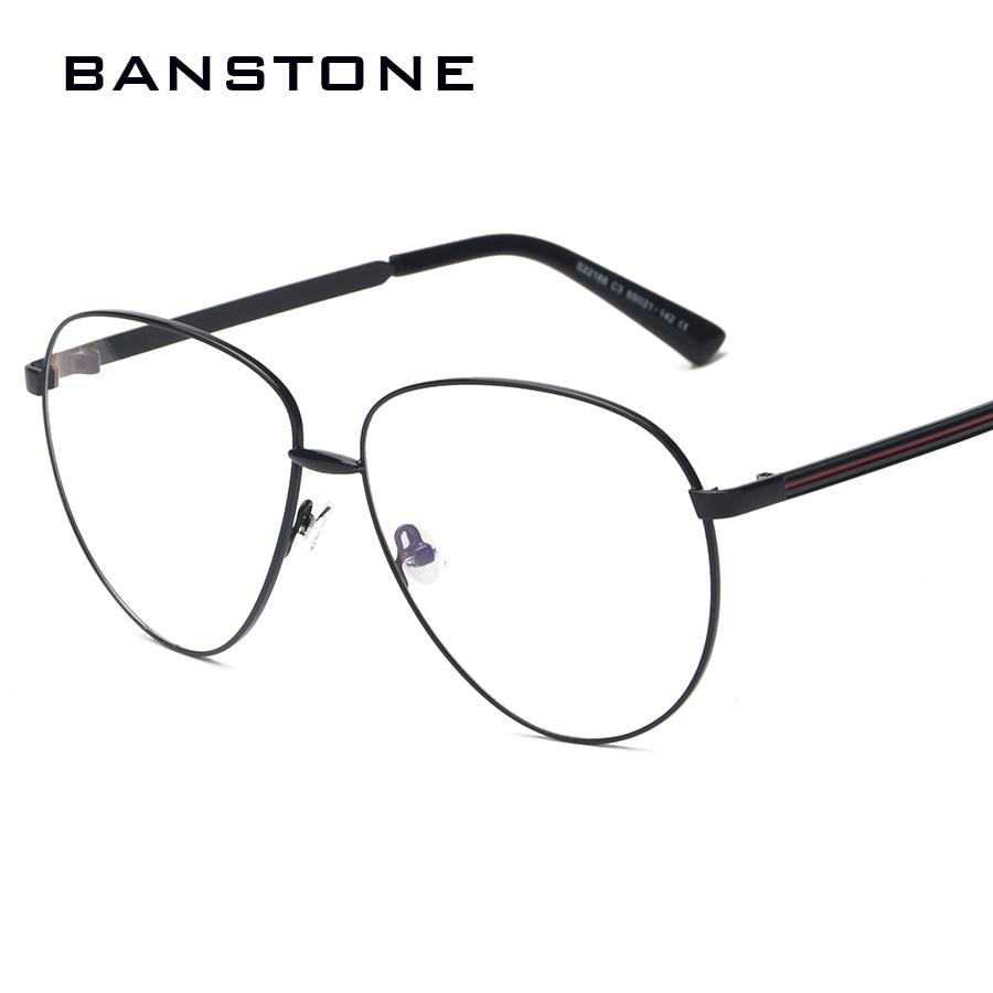 eceb374ab1d BANSTONE Artistic Myopia Glasses Frame Women Men Oversized Fashion Metal  Frame Clear Glasses-in Eyewear Frames from Apparel Accessories on  Aliexpress.com ...
