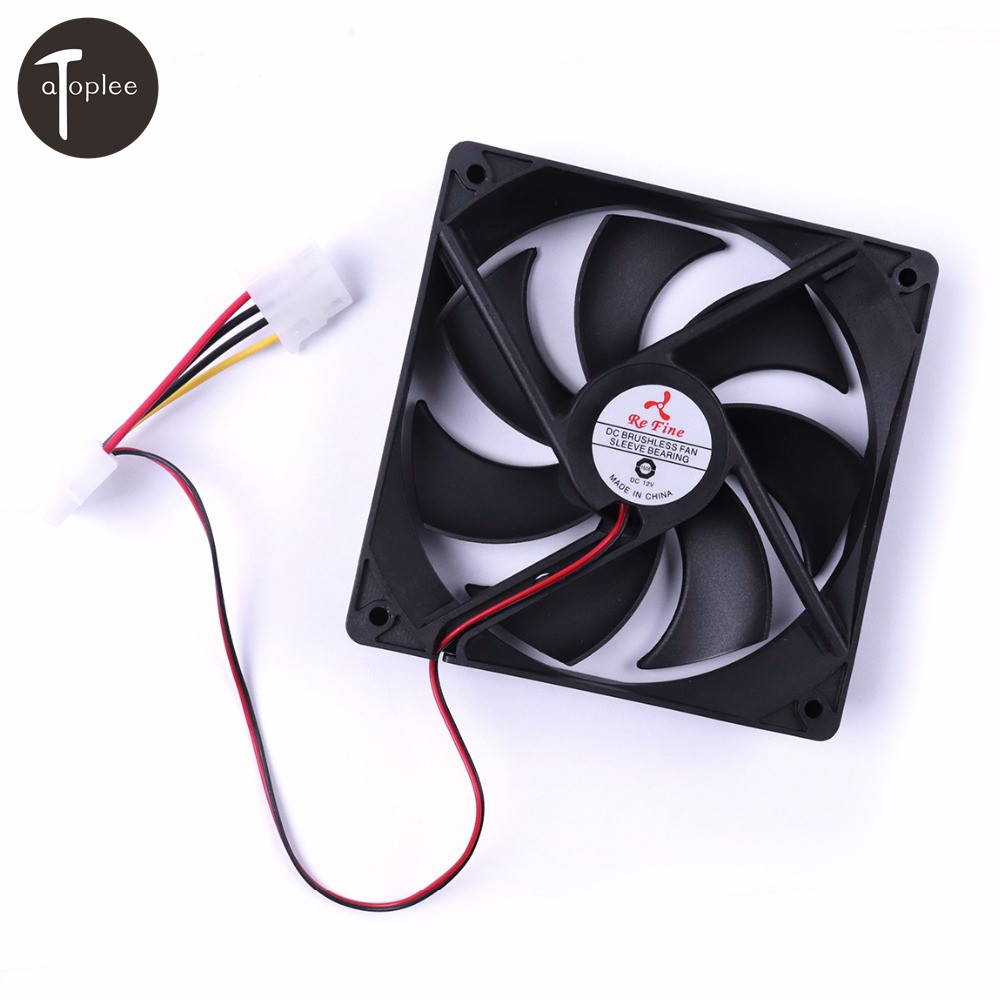 1PC DC12V 0.03A 4-Pin Ultra Quiet Powerful Brushless Fan 7 Blades&Screws Cooling Radiator For Computer DIY Cooling