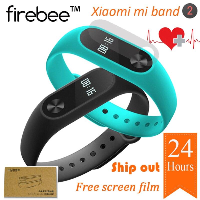imágenes para Original xiaomi mi banda 2 de fitness inteligente pantalla táctil oled sleep monitor de ritmo cardíaco reloj pulsera pulsera miband mi band2