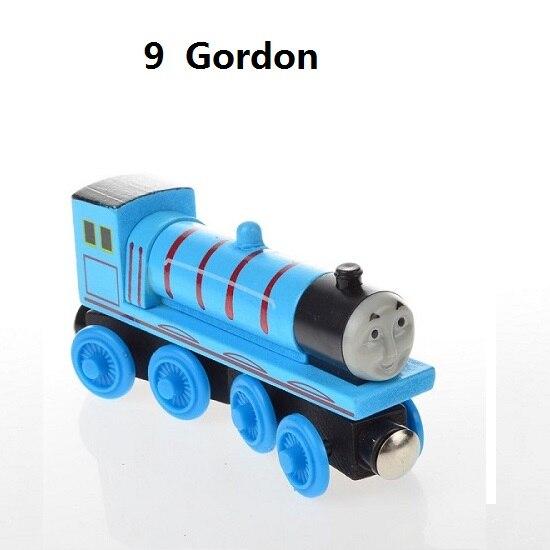 Деревянные магнитные паровозики, игрушки для железной дороги, деревянные паровозики для детей, подарок для детей, модель поезда - Цвет: Темно-бордовый