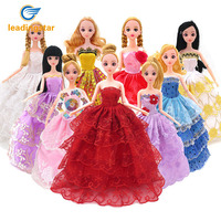 LeadingStar Barbie Dolls Fashion Wedding Evening Party Dress Princess Gown Outfit Beautiful Skirt For Your Barbie