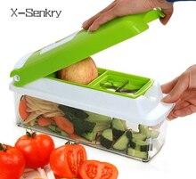 12 PCS set Multifunctional Slicer Vegetable Cutter Mandoline Slicer With Interchangeable Stainless Steel Peeler Grater