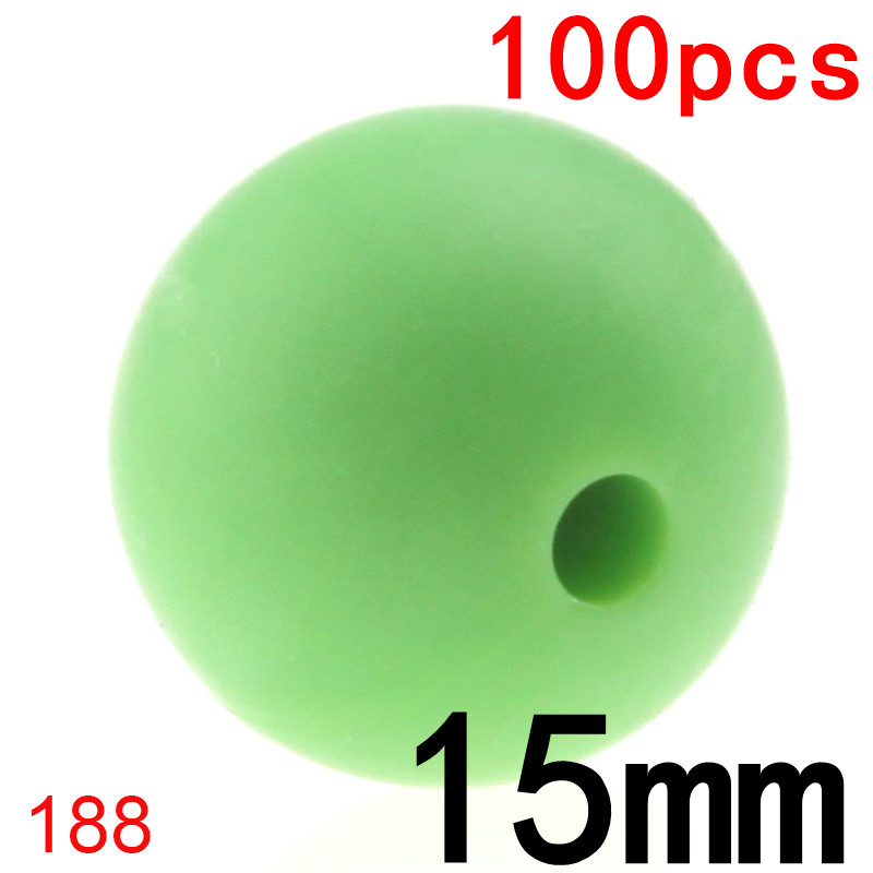 100PCS Round Silicone Beads Teething 15MM Bpa Free For Baby Toy Diy Teether Teething Necklace Accessories Silicone Teether Bead
