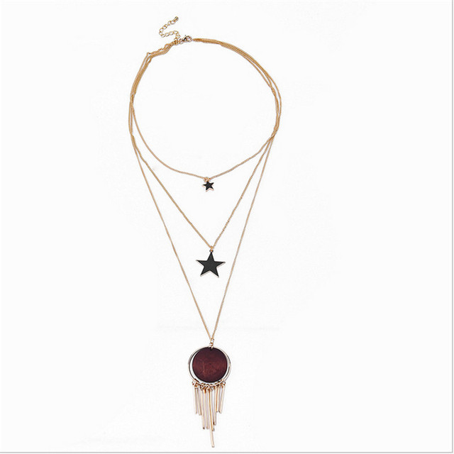 Nj sexy five pointed star round tassel stones fashion womens nj sexy five pointed star round tassel stones fashion womens pendants massive necklaces free shipping aloadofball Images