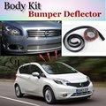 Bumper Lip Deflector Lips For Nissan Versa Note / Tone Front Spoiler Skirt For TopGear Fans Car Tuning Veiw / Body Kit / Strip