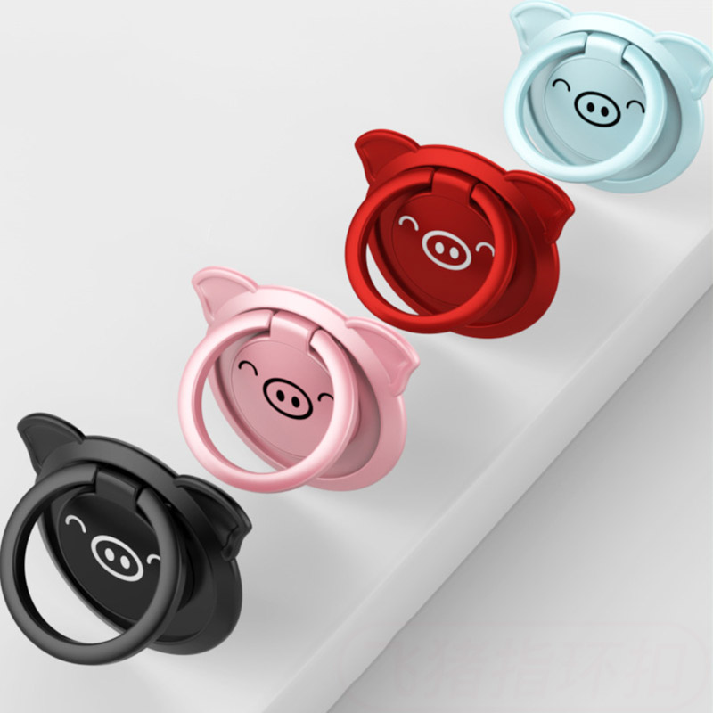 Mobile Phone Ring Bracket Pig Ring Buckle Gift Gift Magnetic Car Phone Holder  360 Holder Mobile Phone Holders Stands