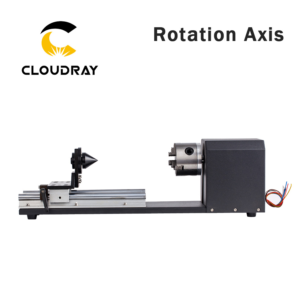Cloudray Rotary Engraving Attachment with Chucks Stepper Motors for Laser Engraving Cutting Machine Model B