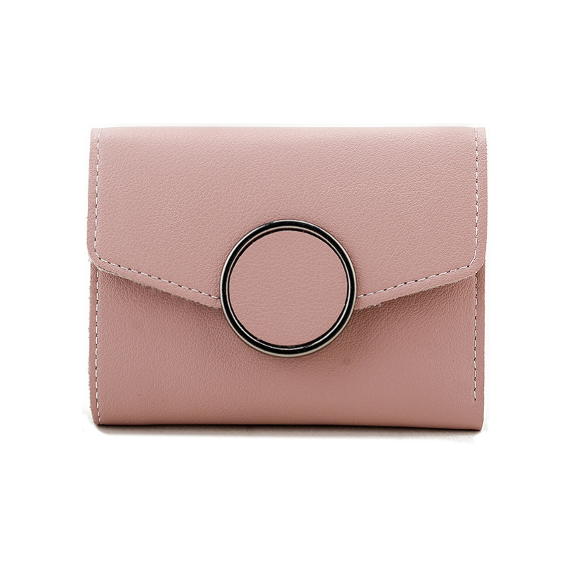 Fashion Leather Small Wallet Female Mini Wallet Women Small Coin Purse Zipper Hasp Short Lady Purses Card Holder Girl Money Bags jinbaolai fashion genuine leather wallet bifold leather wallet id card holder zipper coin purse hasp short wallet for men s gift