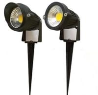 12pcs IP65 Outdoor Landscape LED Lawn Light Lamp 220V 110V 7W COB Garden Spot Light Spike