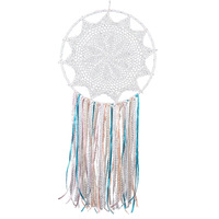Large Handmade Dreamcatcher White Macrame Dream Catcher Big Wall Hanging Home Car Decor Ornament