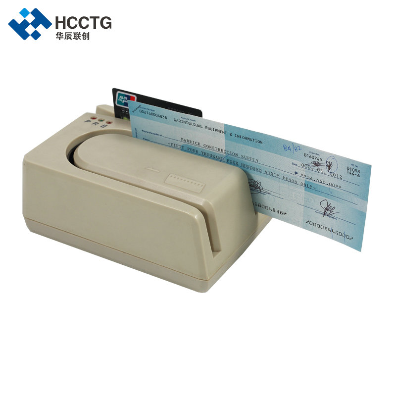 1 piece E13B MICR reader (check reader), with 1/2/3 Magstrip card reader module--HCC1250 ...