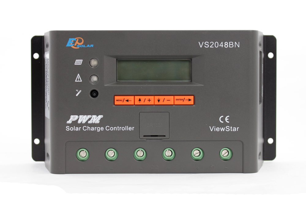 EPEVER EPSolar 20A 20amp VS2048BN solar panel battery controller 48v regulator free shipping New arrival free shipping 500pcs lot acs712 20a acs712 712 allegro acs712elctr 20a t sop 8 100%new