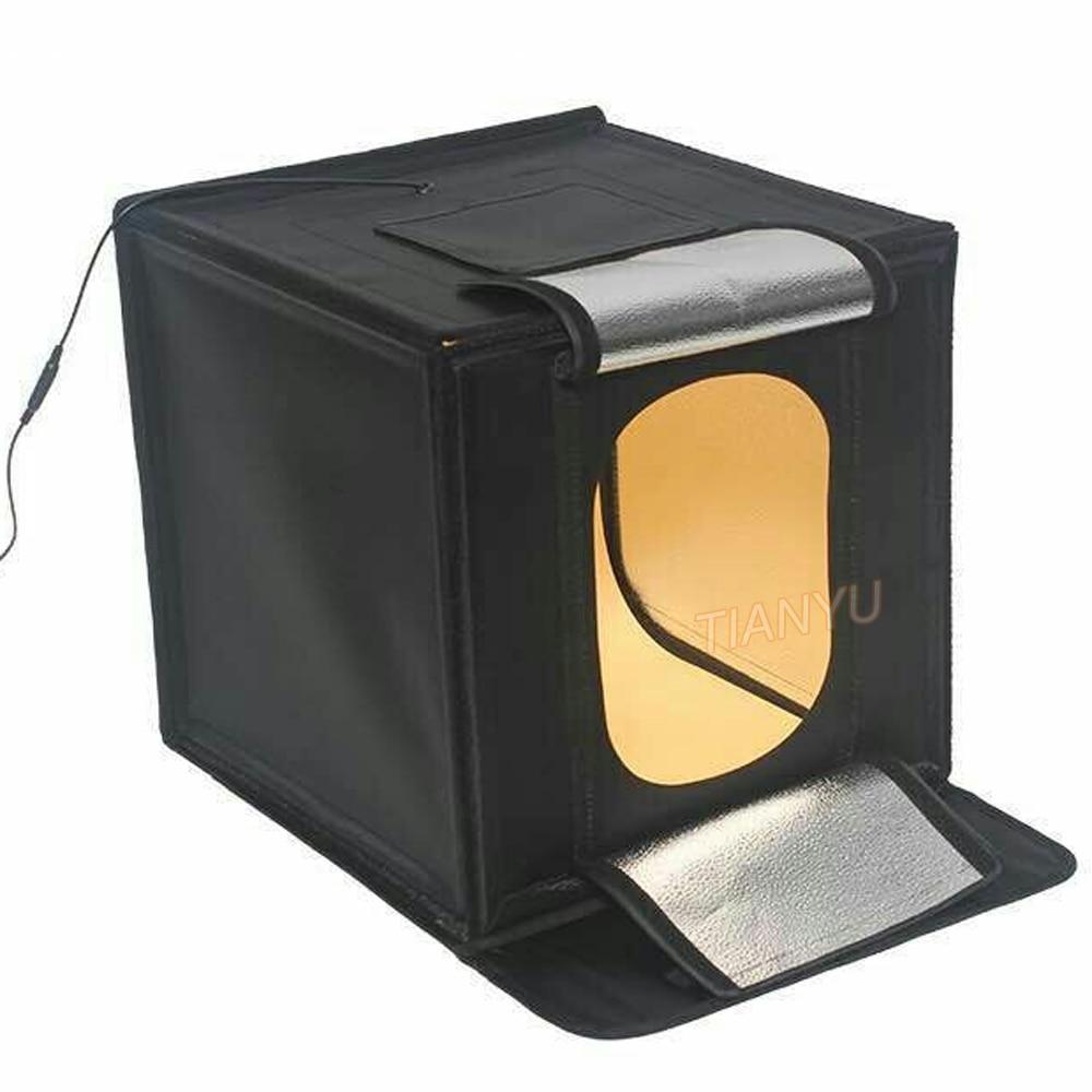 LIFE 40*40cm 16inc light Photo Studio box Mini photo studio photograghy Softbox Led Photo Lighting Studio Shooting Tent Box Kit mini portable folding lightbox photography photo studio softbox lighting kit light box for iphone samsang digital dslr camera