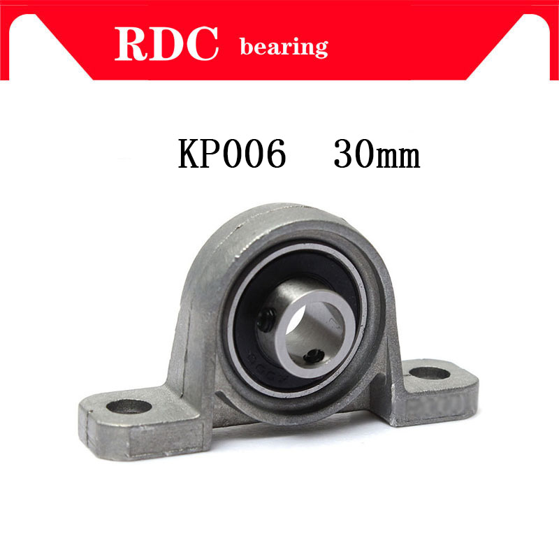 KP006 30mm High quality insert bearing shaft support Spherical roller zinc alloy mounted bearings pillow block housing 2pcs precision kp001 bearing shaft 12mm diameter zinc alloy pillow block mounted support ball bearings housing roller mayitr