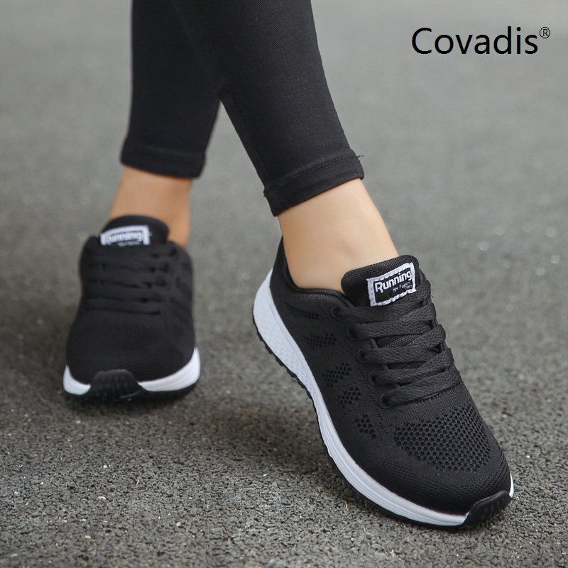 Brand Women Pink White Flat Sneakers Shoes Tenis Feminino Fashion Mesh Walking Shoes Comfortable Woman Casual Jogging Sh