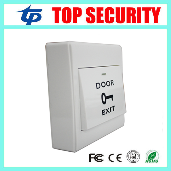 86MM Electric Box Plastic Exit Button Switch PUSH Exit Button with Mounted Back Box Release Button for Access Control System square access control touch exit button nc no com 86 86mm plastic exit push release button switch for door access control system
