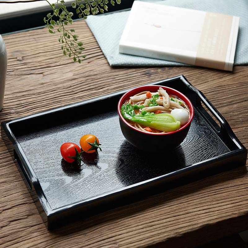 Icestchef Plastik Persegi Panjang Menyajikan Teh Nampan Hotel Makan Malam Kopi Nampan Melayani Makanan Penutup Penyimpanan Teh Piring Piring