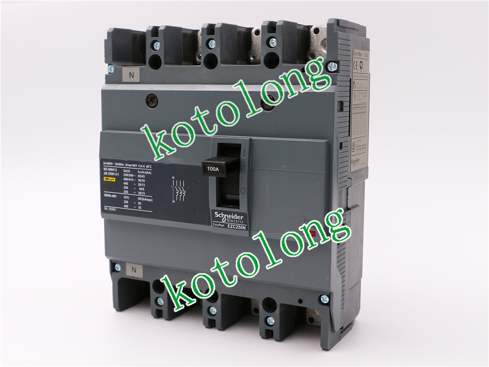 EZC250N 4P MCCB EZC250N4100 4P-100A  EZC250N4125 4P-125A EZC250N4150 4P-150A EZC250N4160 4P-160A