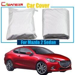 Cawanerl pełny pokrowiec na samochód UV anty śnieg deszcz słońce wytrzymały ochraniacz pokrywa samochód stylizacji dla Mazda 2 Sedan