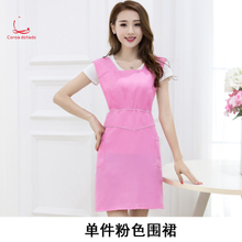 Fashion custom apron work clothes nail shop beauty salon mother baby supermarket restaurant coffee shop waitress russian fashion shop
