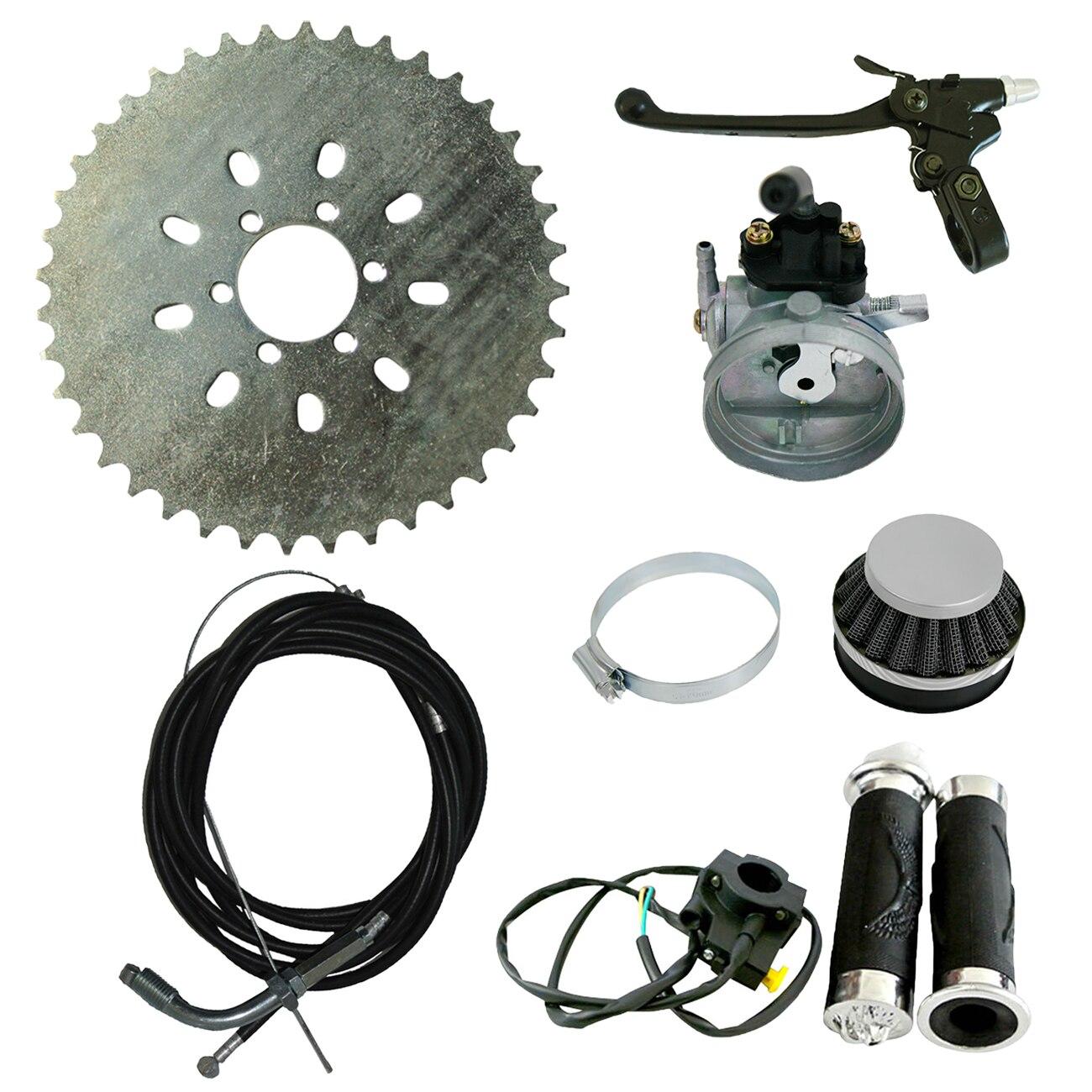 Kit carburateur & pignon levier d'embrayage pour vélo motorisé 60cc 66cc 80cc