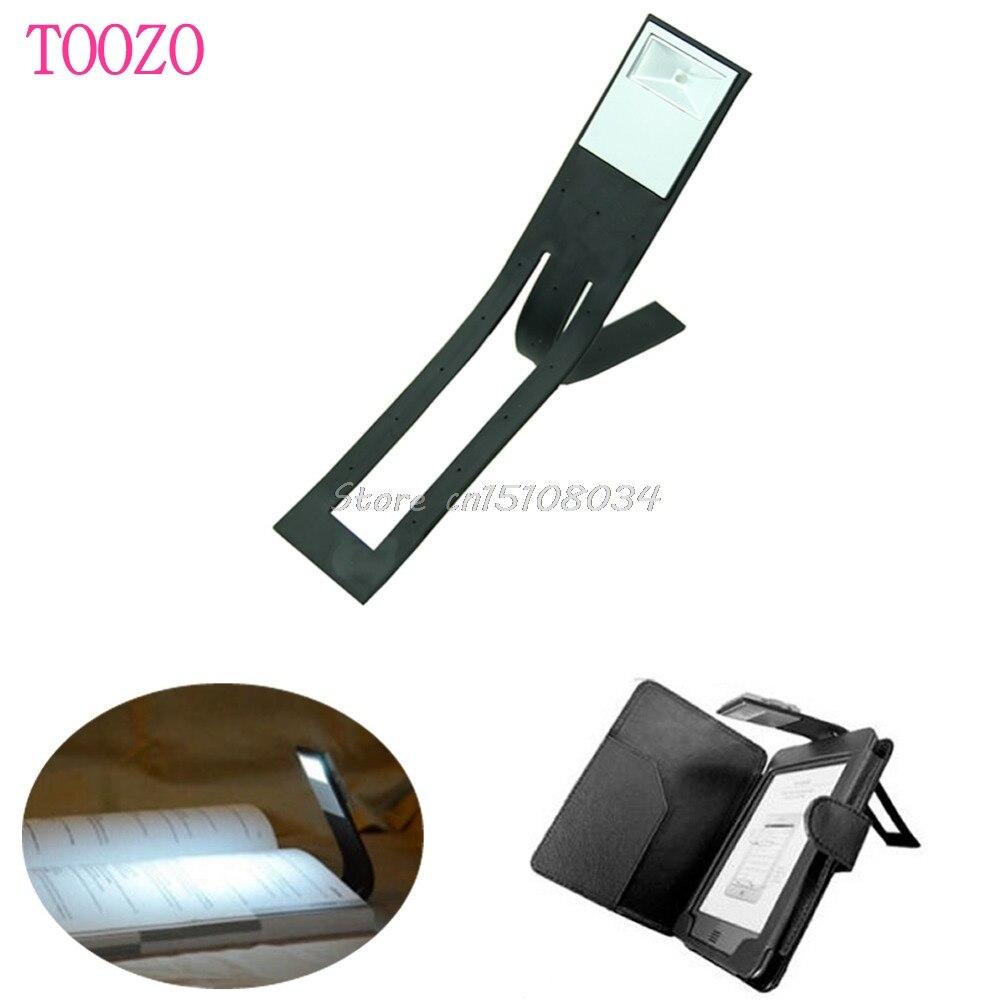இ1 Pc Noir Flexible Pliant Led Clip Sur Livre De Lecture Lampe Pour