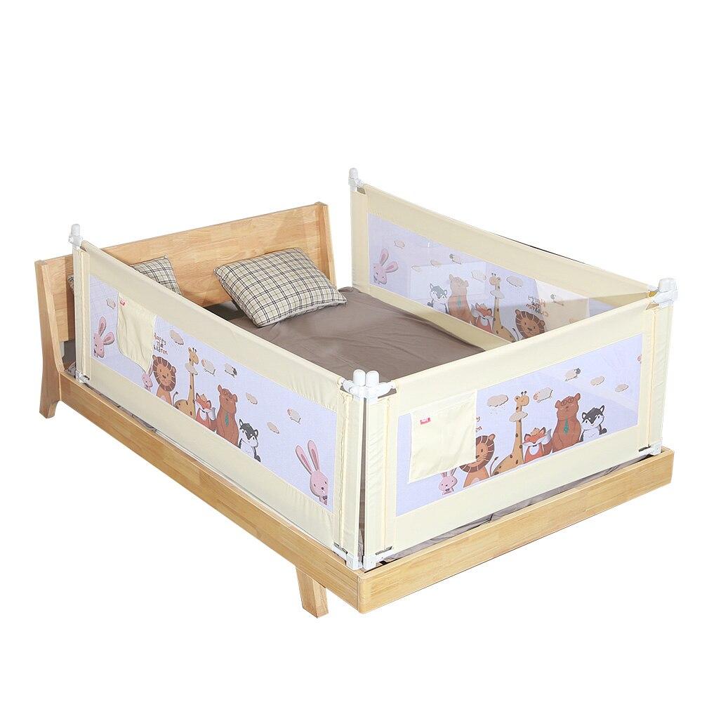 Bande dessinée bébé pare-chocs réglable respirant bébé barrière de sécurité garde avec levage conception garde-corps de lit infantile 1.5 M 1.8 M 2 M
