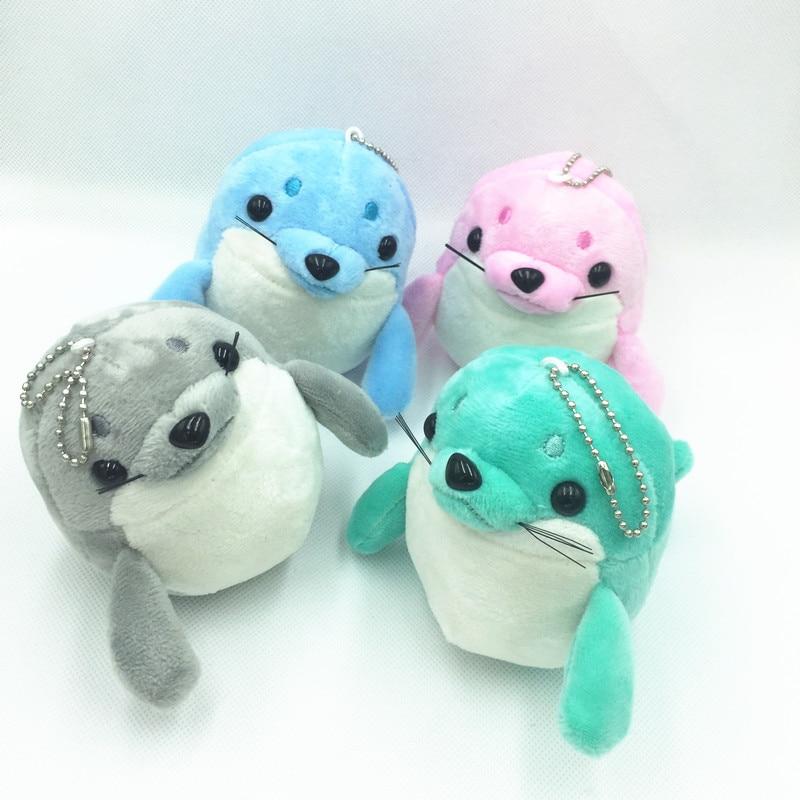 Cute Sea lions Keychains Plush Accessory Women Children Bag Charm Pendant Animal  Mini Stuffed Toy Keychain Gifts 2pcs  ab40d4eb6
