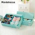 Maidobessa коробка для хранения бюстгальтеров органайзеры для ящиков моющаяся коробка для нижнего белья складные чулки шарфы Органайзер Домашн...