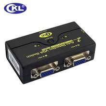 CKL ABS Auto VGA Swap 2 in 1 out, 1 Monitor 2 Computer systems Switcher Help Auto Detection 2048*1536 450MHz USB Powered CKL-21A