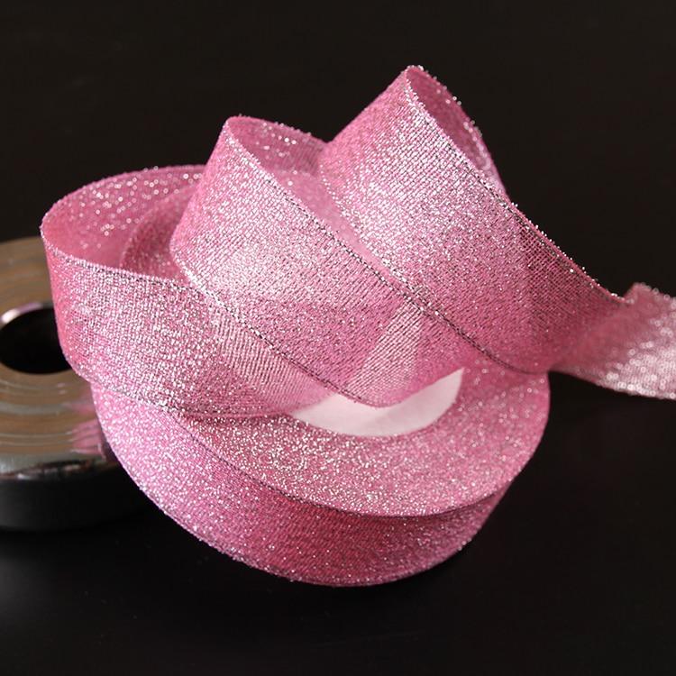 10 Ярд/лот Бренд Высокое качество 3/4 »(20 мм) розовый блеск ленточки для волос для свадьбы ремесло лук подарок Подарочная обертка riband DI