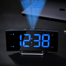 Digital LED Projection Clock glowing numbers Display desk Clocks Electronic led alarm clock with radio and