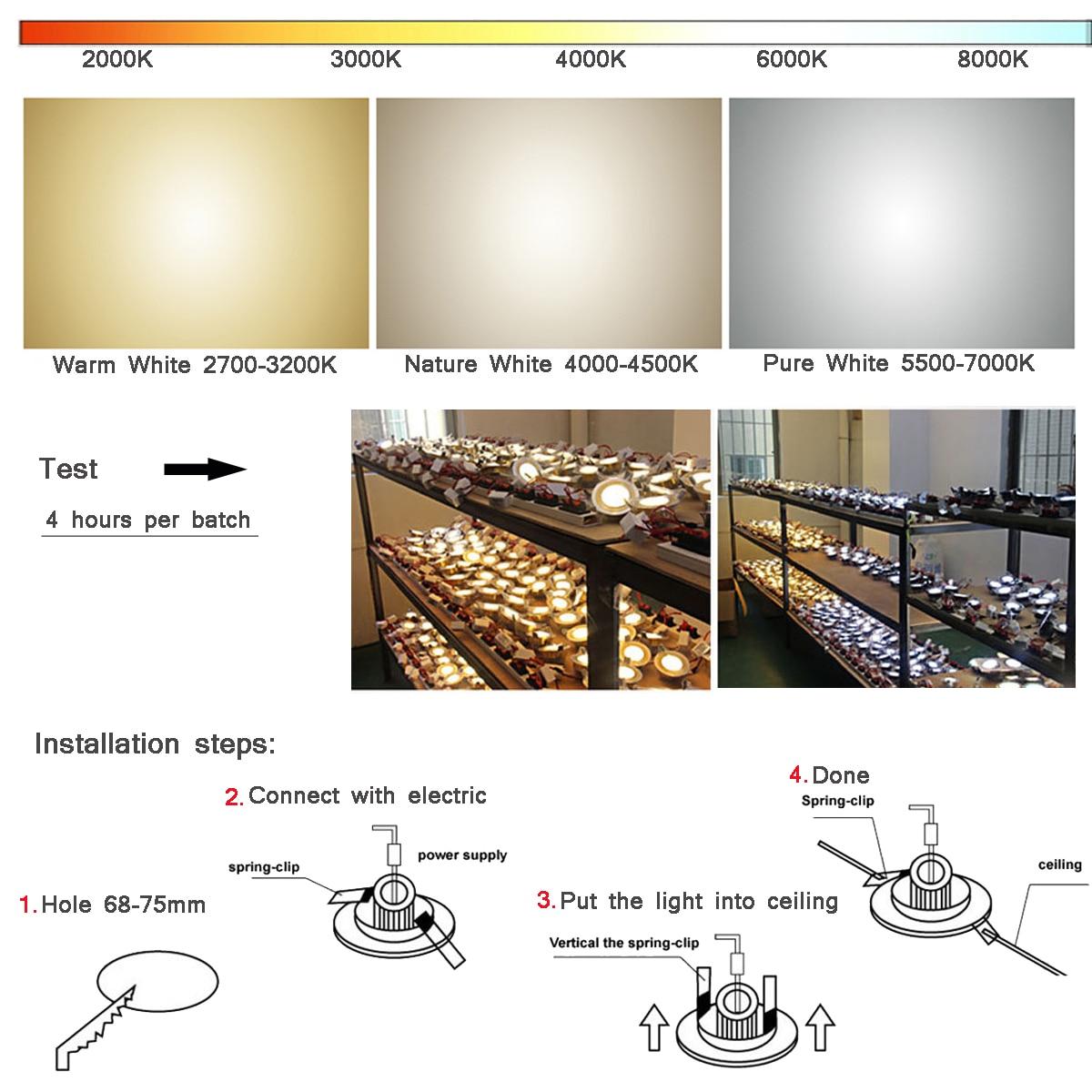 1 Stück Home LED Cob Epistar Einbau Downlight dimmbar 5W / 10W LED - Innenbeleuchtung - Foto 5