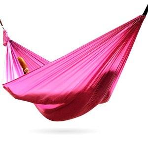 Image 3 - Amaca da campeggio doppia paracadute leggero amache portatili hamock rosso per escursioni viaggi campeggio con amaca cinghie carbina