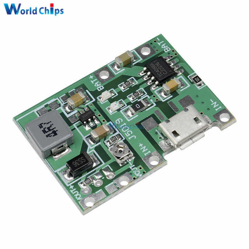3.7V 4.2V Lithium Li-ion 18650 Battery Charger Board DC-DC Step Up Boost Module Lithium Battery Charging Step-Up Board Module