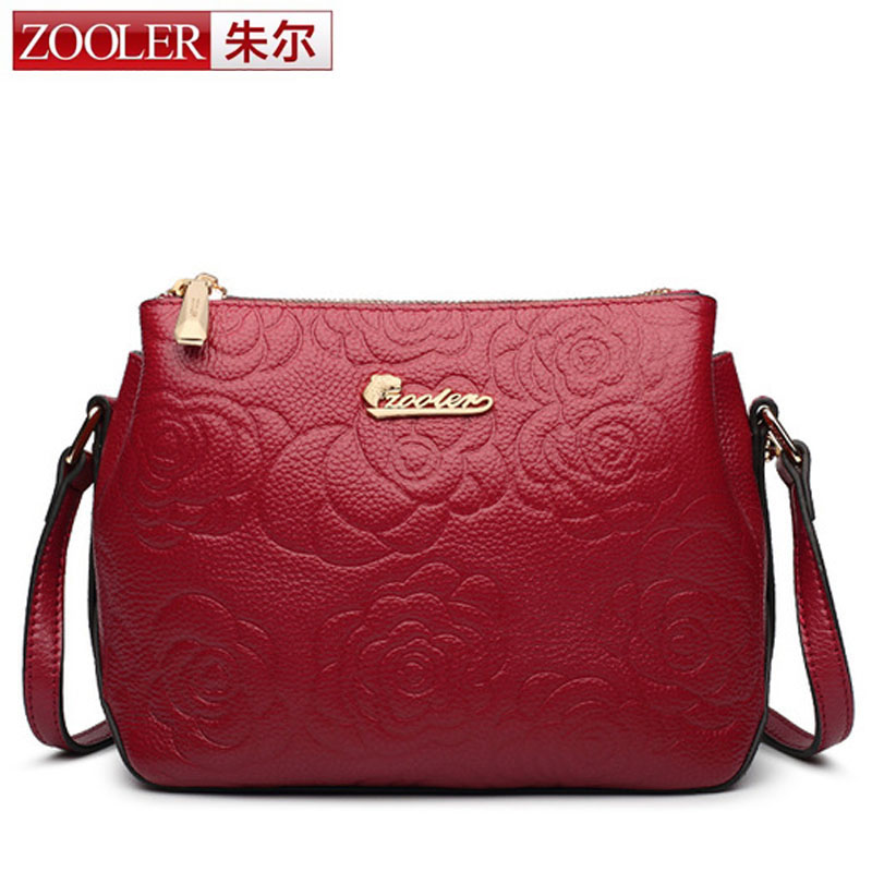 ZOOLER Women Genuine Leather Handbags Famous Brand Handbag Messenger Small Bag Shoulder Bag Tassen Sac a Main 2017 Fashion Borse 2016 women leather handbag women messenger bag sac a main brand designs women shoulder bag fashion weaving tote bag purse 3 sets