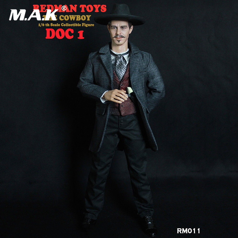 For Collection RM011 1/6 Scale Doc Holliday Western Cowboy Action Figure Model full set Figure doll Toy full set 3a 1 6 the walking dead merle dixon collectible action figure toy 1 6 doll collection full set action figure with original box