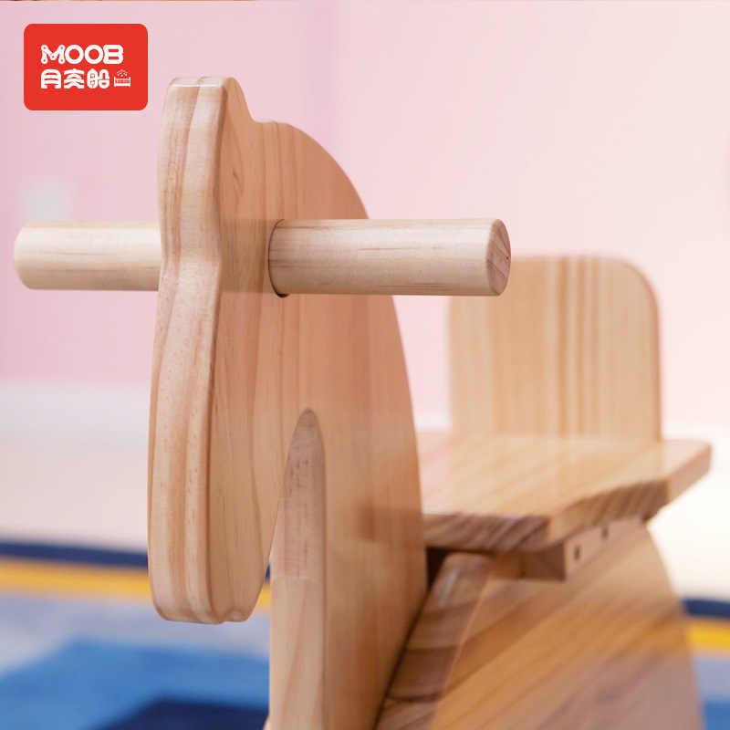 ไม้ Rocking Horse,ทารก,ของเล่นเด็ก Trojan, เด็กม้าโยกวันเกิดของขวัญ 1-6 ปี