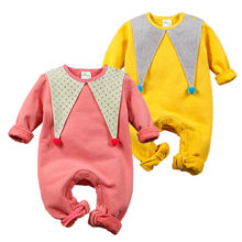 Spring/Autumn/Winter Baby Rompers Newborn Boys Girls Clothes Cotton Fleece Baby Jumpsuit Clown Style Fashion Infant Clothing(China)
