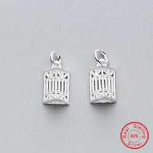 Uqbing новые полые стерлингового серебра 925 геометрический