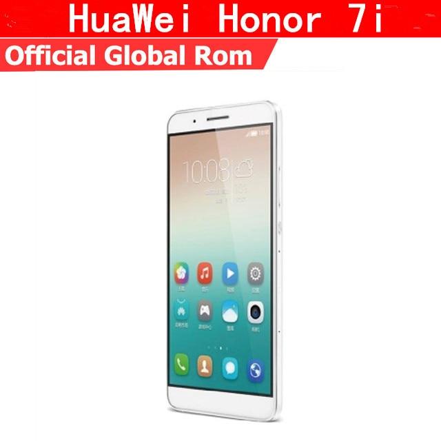 "Глобальная прошивка Huawei Honor 7i 4G LTE смартфон Octa Core Android 5,1 5,2 ""FHD 1920X1080 3 ГБ оперативная память 32 ГБ Встроенная 13.0MP отпечатков пальцев"