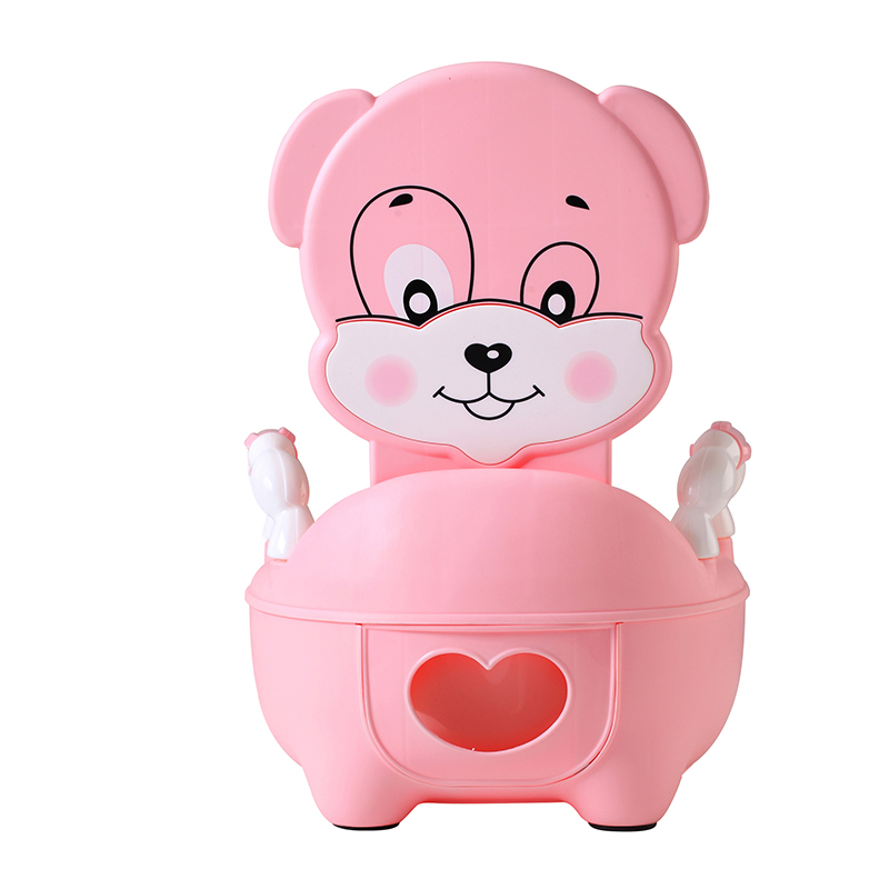 Baby Potty Toilet Training Pan Toilet Seat Children's Pot Kids Bedpan Portable Urinal Comfortable Backrest Cartoon Cute Pot