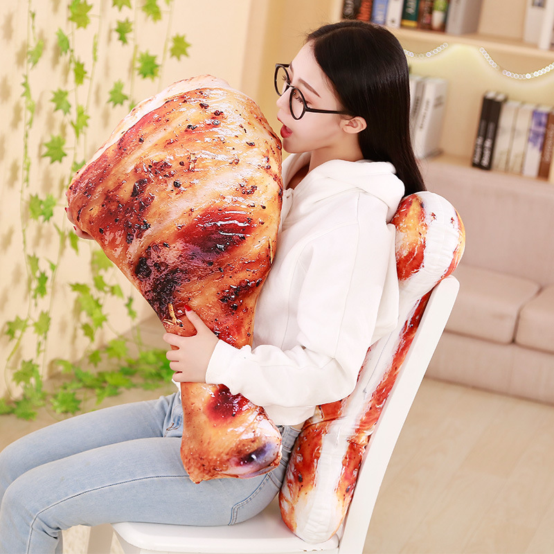 HTB1lKpNtyCYBuNkHFCcq6AHtVXas 3D Simulation Food Shape Plush Pillow Creative Chicken Sausage Plush Toys Stuffed Sofa Cushion Home Decor Funny Gifts for Kids